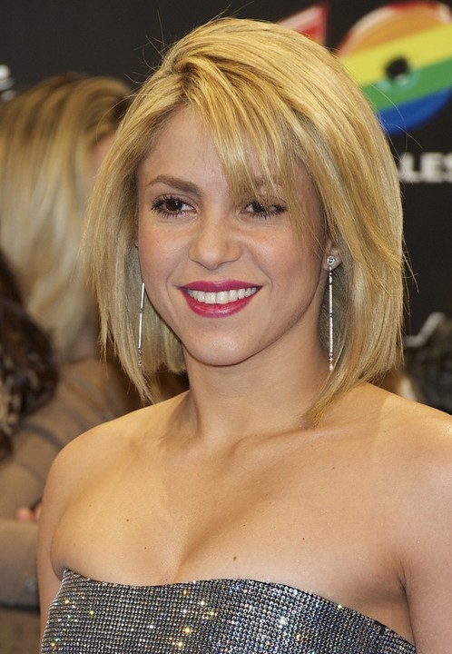 Shakira Short Layered Bob Hairstyle for Women