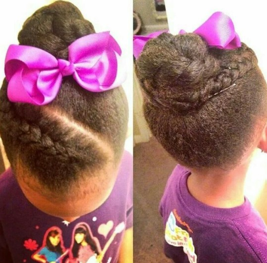 Simple Updo for Black Girls
