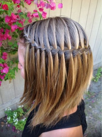 Waterfall Braid for Little girls