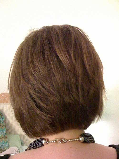 Back View of Short Stacked Bob Haircut