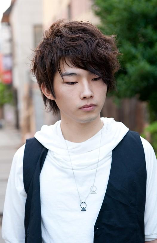 Curly Korean Hair Style for Men