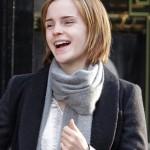 Emma Watson chic short bob haircut for winter