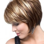 Side View of Graduated Bob Cut for Women
