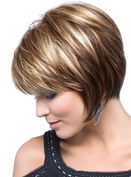 Admirable Casual Layered Graduated Bob Cut With Highlights Hairstyles Weekly Hairstyles For Men Maxibearus