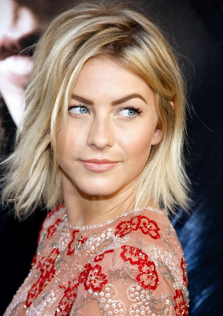 Julianne Hough layered messy bob haircut for women