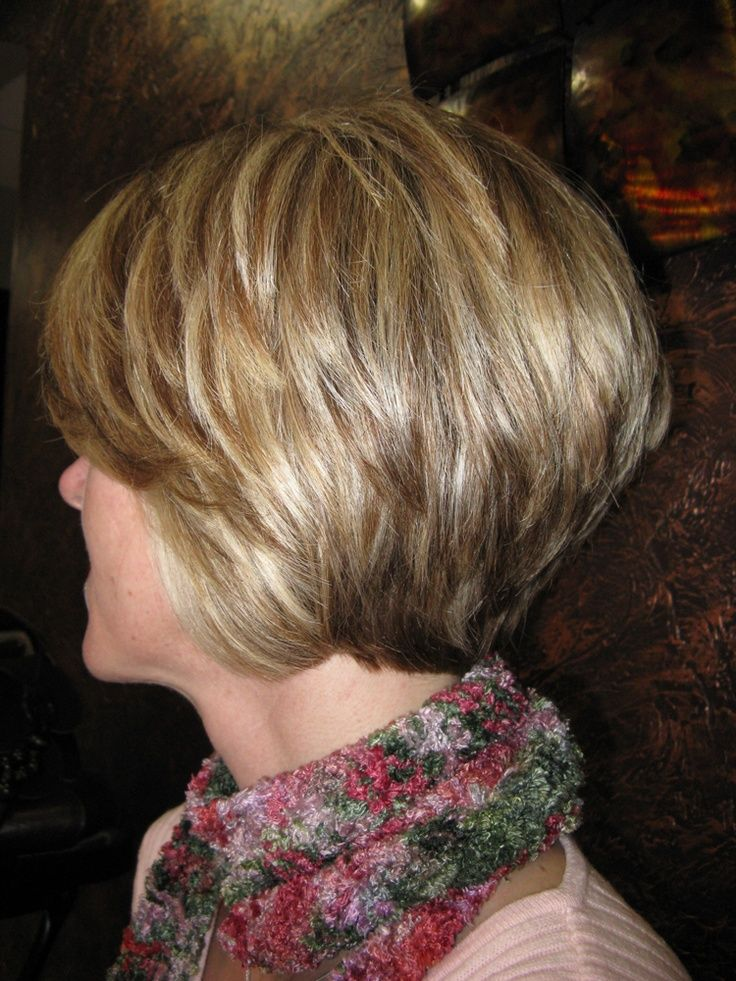 Layered Stacked Bob Hairstyles for Thick Hair