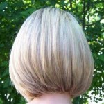Medium sandy blonde bob with a hint of highlights