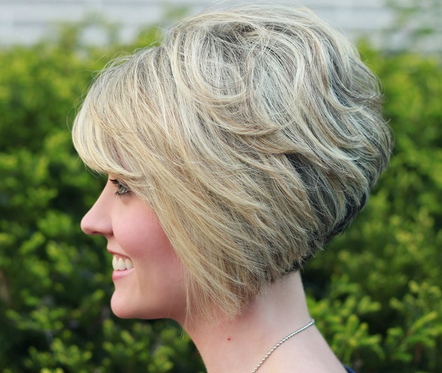 Messy Layered Stacked Bob Hairstyles