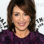 Patricia Heaton's layered medium hairstyle for women over 50