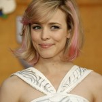Rachel McAdams short hairstyle with side swept bangs for women