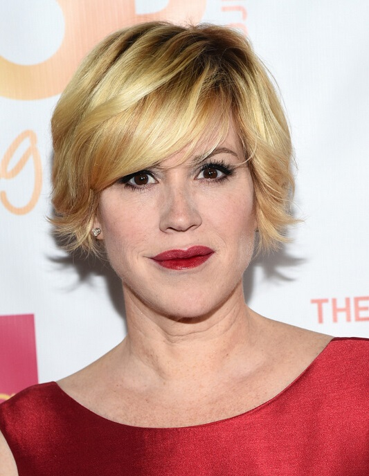 Latest Layered Razor Cut For Women From Molly Ringwald Hairstyles