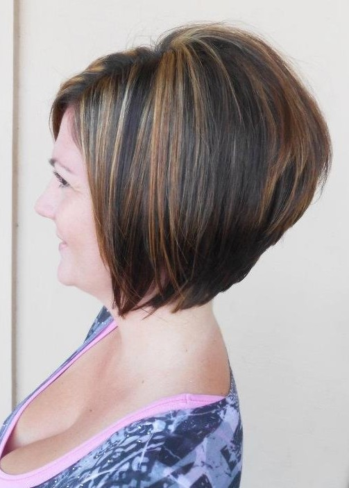 Side View of A-line Bob Haircut