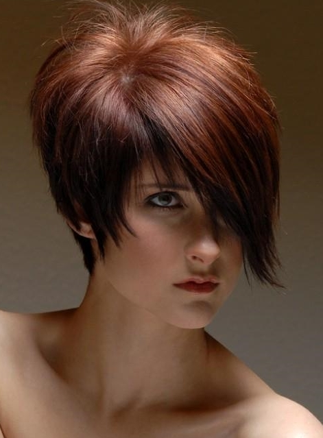 Asymmetry Short Haircut for Women