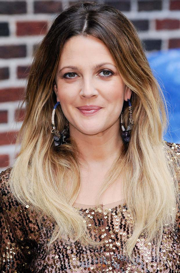 Celebrity Drew Barrymore Brunette to Blonde Ombre Hair