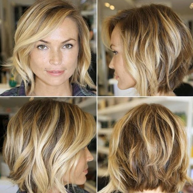 Stupendous Chic Layered Bob Haircut With Side Swept Bangs Hairstyles Weekly Hairstyles For Men Maxibearus