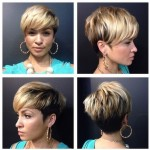 Bowl-cut inspired hairstyle with bangs