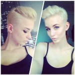 Platinum undercut with pompadour
