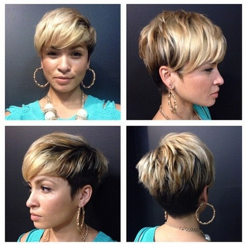 Latest Layered Short Haircut With Side Swept Bangs For Women