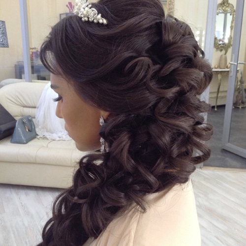 Curls To One Side Wedding Hairstyles: 30 Classic Wedding Hairstyles & Updos
