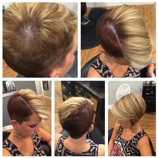 Bold Short Haircut With Long Side Bangs