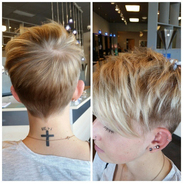 Chic Layered Short Pixie Haircut for Women
