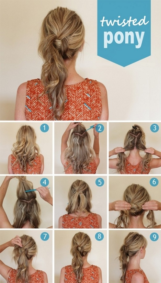 Cool loose twisted ponytail for prom