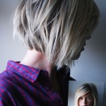 Side View of Cute Choppy Bob Hairstyle for Medium to Short Hair