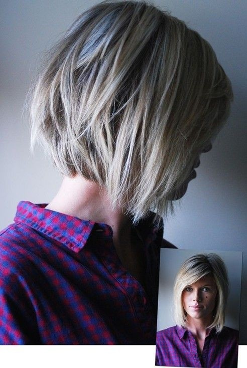 Picture of Side View of Cute Choppy Bob Hairstyle for Medium to Short ...