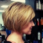 Cute Inverted Bob With Side Bands