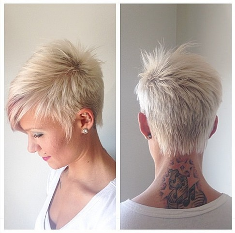 Cute Crop with a Kiss of Pink - Hairstyles Weekly