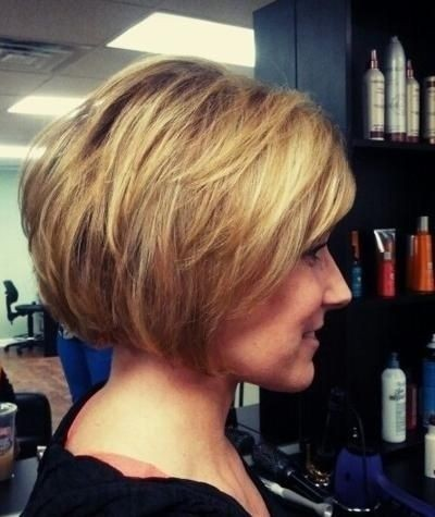Side View of Cute short bob hairstyle for women