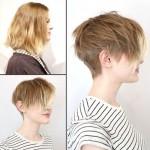 Feminine short haircut for women