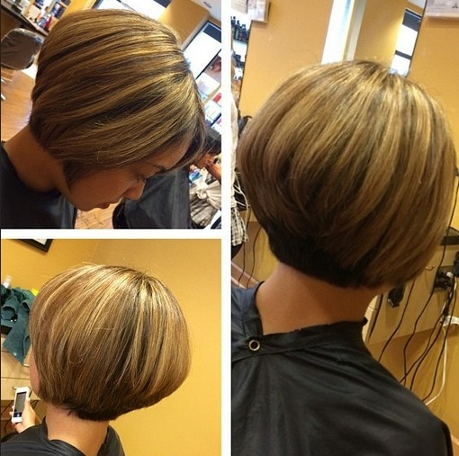 Chic Short Haircut for Women - The Stacked Bob Cut - Hairstyles Weekly