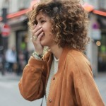 Medium curly hairstyle for women