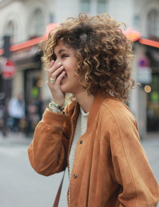 Hairstyles For Curly Hair Cool Ombre Curly Hair For Fall