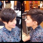 Pretty short pixie cut for summer