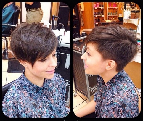 stylish short haircut for women  pretty pixie cut with