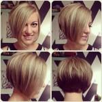 Short Asymmetrical Bob Haircut