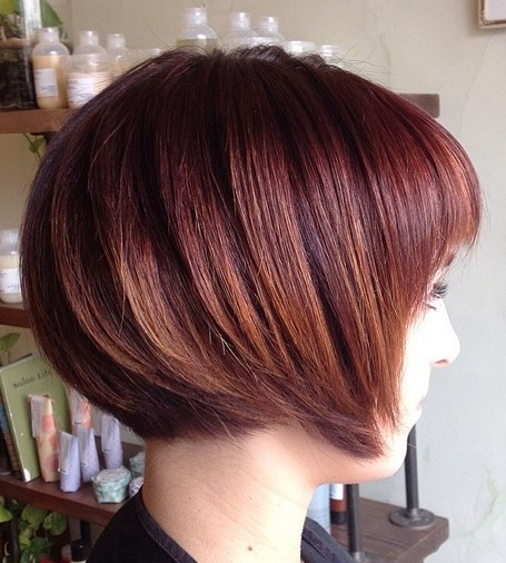 Feminine Short Chin Length Dark Red Bob Hairstyle Hairstyles Weekly