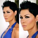 Short Spiked Black Haircut for Women