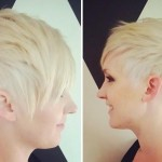 Short blonde boy cut for straight fine hair