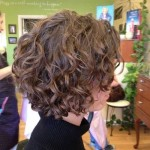 Short curly bob hairstyle for women age over 30