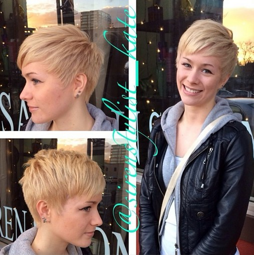 Short layered hairstyle for women the pixie cut