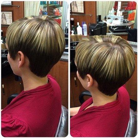 Short mushroom haircut