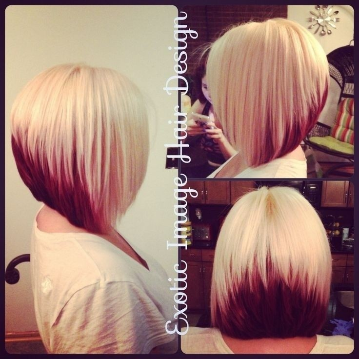 Short Blonde To Pink Ombre Graduated Bob Cut Hairstyles Weekly