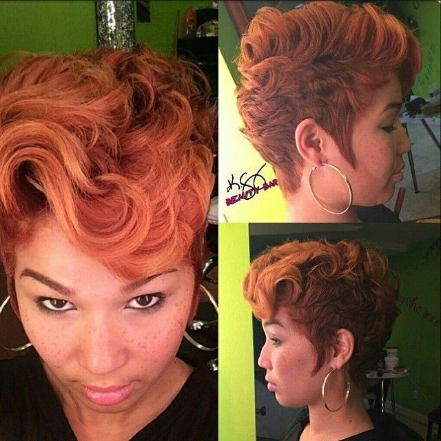 Awesome Short Red Curly Hairstyle For Black Women Hairstyles Weekly Short Hairstyles Gunalazisus