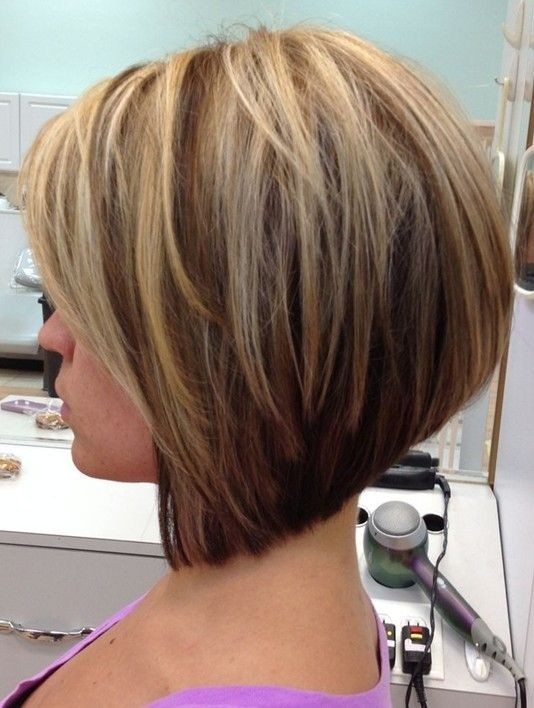 Side View Of A Line Bob Hairstyle For S