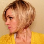 Side View of Short Bob Haircut for Thin Hair