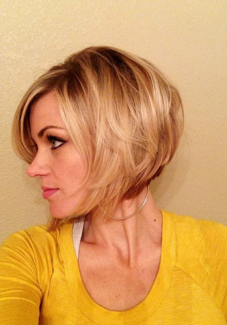 Feminine Short Hairstyle For Women The Layered Bob Cut