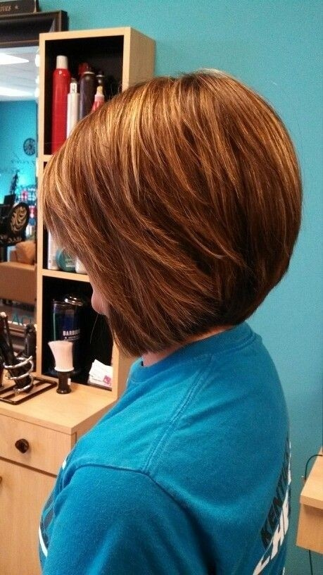 Simple Easy Daily Hairstyle For Short Hair Stacked Bob